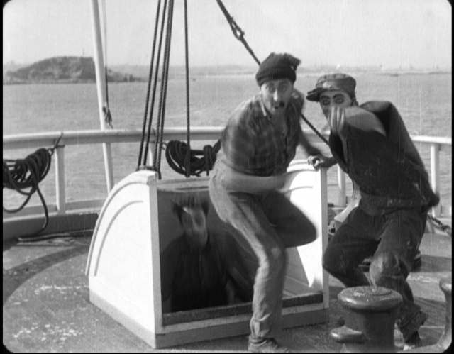 A clear view of Dead Man's Island appearing in Charlie Chaplin's Shanghaied (1915).