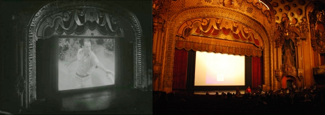 George Valentin's Tears of Love on the Los Angeles Theater screen, at left. Color image Floyd B. Bariscale http://www.flickr.com/photos/7294653@N07/3394648314/ca