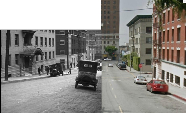 Speed (1928) looking south down Witmer towards the Mayfair Hotel (C) 2011 Google