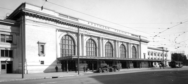 The former Southern Pacific Depot at 5th and Central
