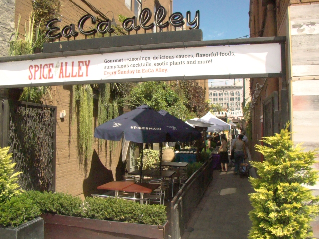 The EaCa Alley south entrance