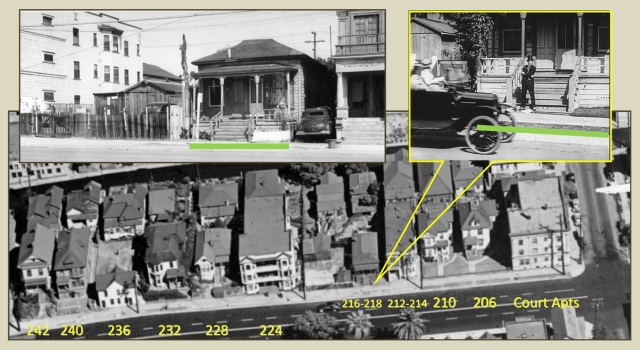 is later aerial view shows the block of Hope Street where Lloyd filmed.  USC Digital Library  EXM-P-S-LOS-ANG-CIT-AIR-VIE-019
