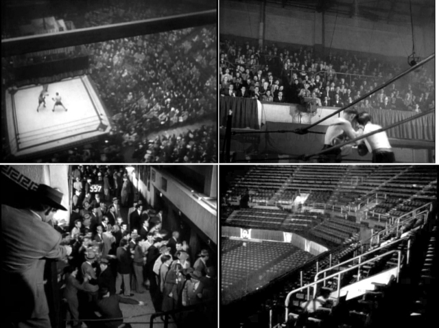 Four views of the Olympic Auditorium from The Turning Point
