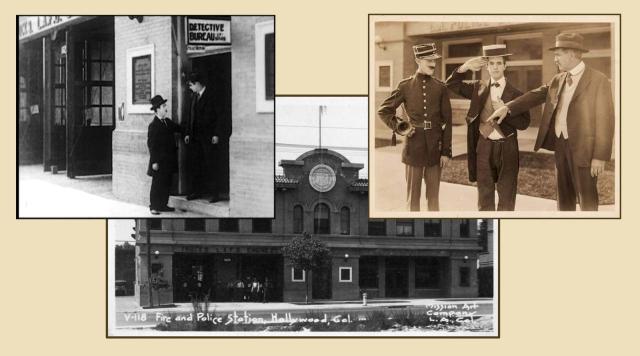 Harry Langdon, left, in Stan Laurel, right, in Just Nuts (1922).
