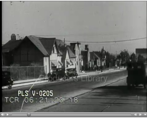 There's a brief period shot of the front of the Chaplin studios in this clip at 6:21:23:00