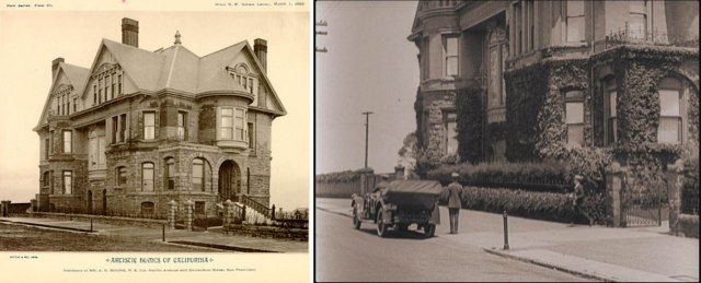 Buster Keaton in The Navigator (1924) beside the former A.D. Moore mansion on Divisadero at Pacific.