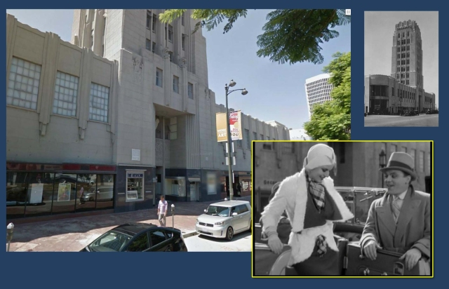 Cagney drops Harlow off at Wilshire, with the Wilshire Tower building in the background.
