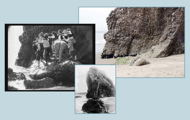A side view of Haystack Rock, in Chaplin's Carmen.  Jeffrey Castel De Oro