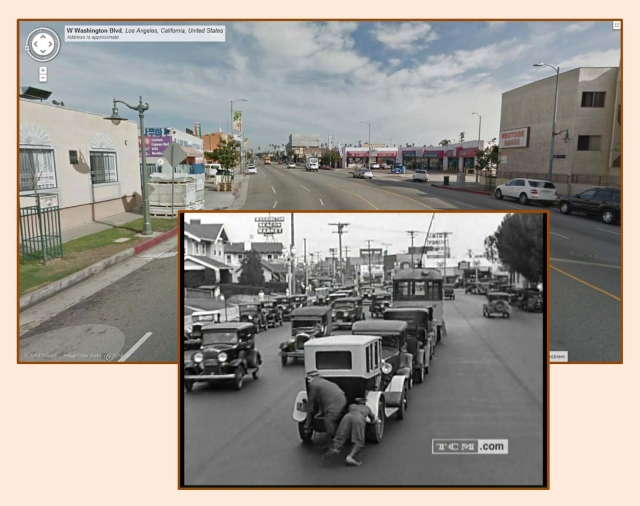 Click to enlarge each image.  Looking east down Washington Blvd. toward the corner of West View Street.