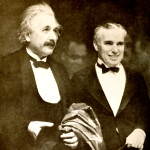 Albert Einstein and Chaplin at the premiere