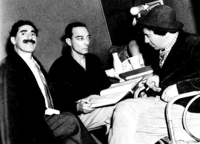 While Buster would later work with the Marx Brothers as a gag writer for M-G-M, I wonder if they ever realized they had both filmed at the Jewett Estate.