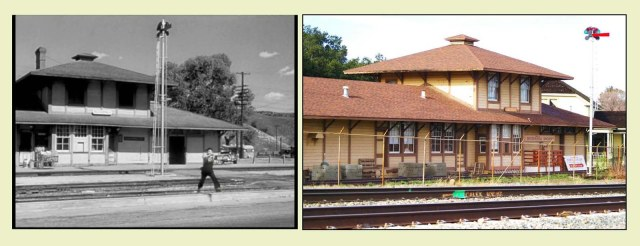 The station as it appears in Suddenly and at its new home. E. J. Stephens.