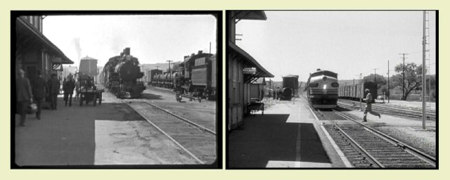 Arriving trains - 1923 and 1954