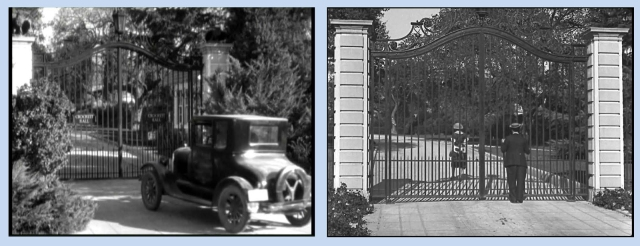 Matching gates of the Jewett Estate in Finishing School and Cops