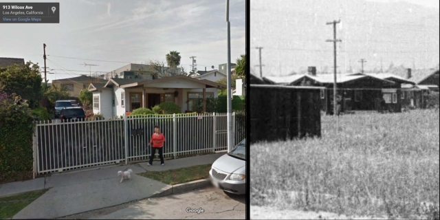 917 Wilcox - then and now.