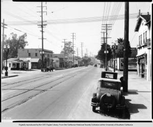 A similar view east in 1929. USC Digital Library.