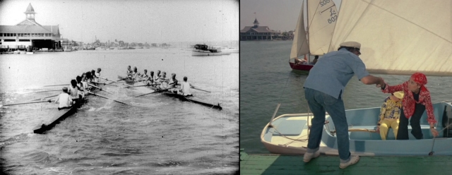The Newport Beach Pavilion appearing with Buster Keaton in College (1927), and with Suzanne Pleshette in