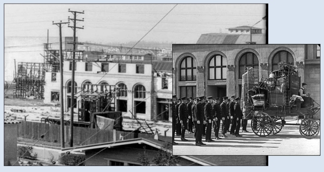 The five arch Metro backlot set as it appears in Cops.