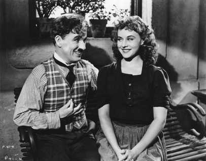 Chaplin and Paulette Goddard